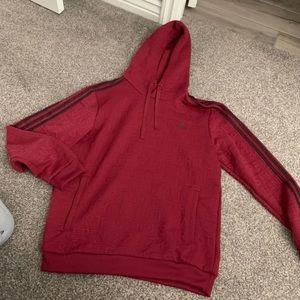 Adidas men's logo hoodie large